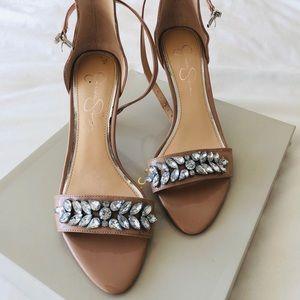 Nude Jessica Simpson heels w gemstones 🌟